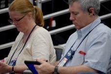 Alternate delegates, Karen Oehl and Michael Grant