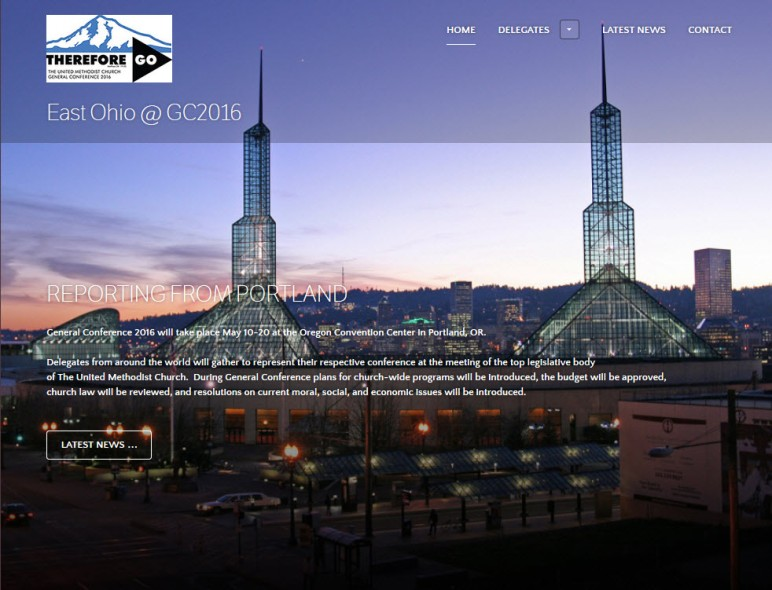Photo of website home page